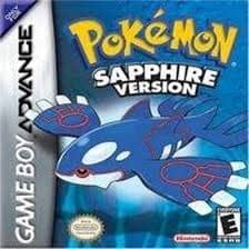 Pokemon Sapphire met Kyogere op de voorkant