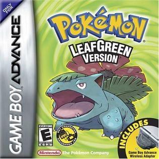 Pokemon Leaf Green met nidorino en gengar in het begin