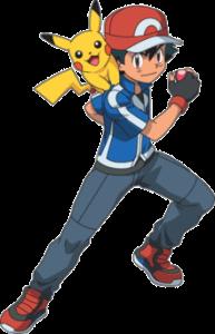 Ash Ketchum uit Pallet Town en Pikachu